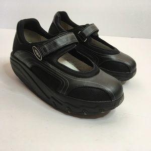 MBT Black Rocker Toning Walking MaryJane Shoes 7